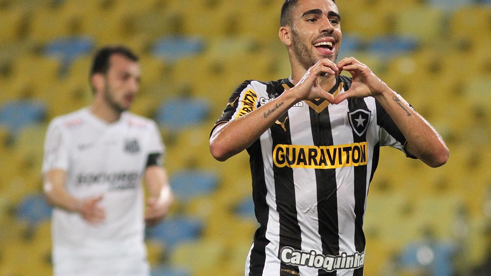 Gabriel comemora o 1° gol do Botafogo no Maracanã