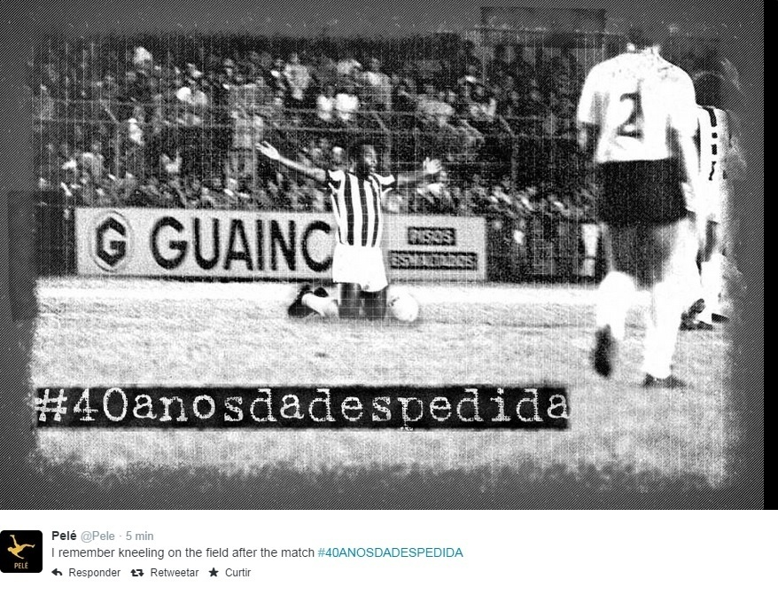Pelé relembra despedida da Vila Belmiro