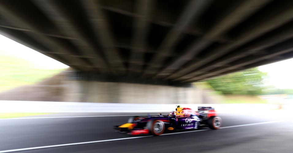 No dia em que anunciou saída da Red Bull para o final da temporada, Sebastian Vettel entra na pista para terceiro treino livre em Suzuka