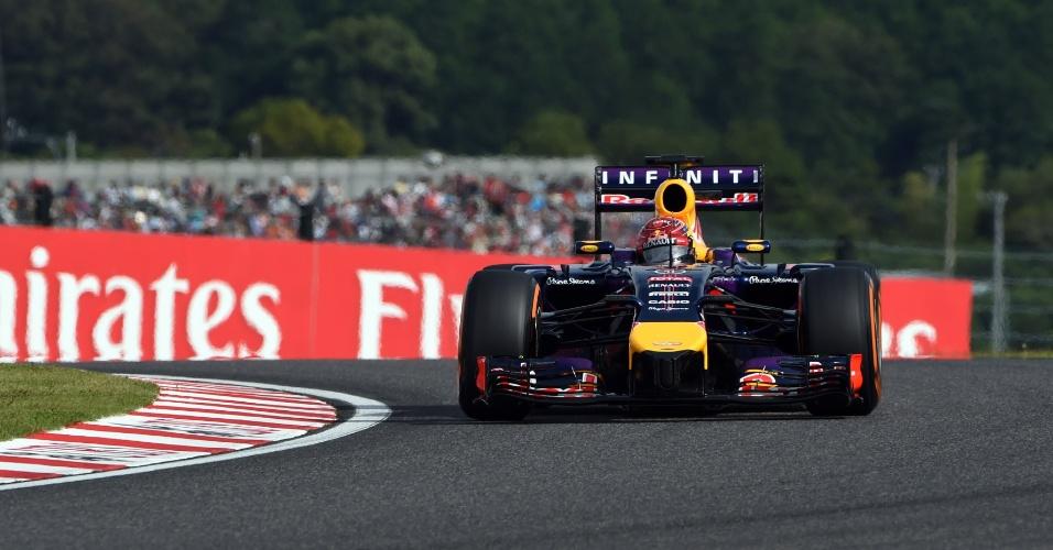 04.out.2014 - Sebastian Vettel conquista a nona colocação no treino classificatório do GP do Japão