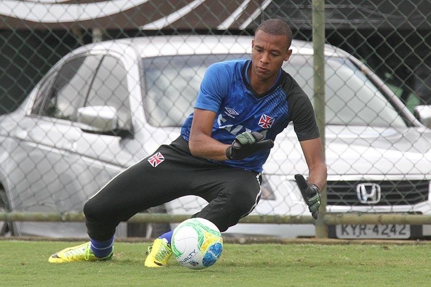 Jordi, goleiro do Vasco, em treino no CFZ