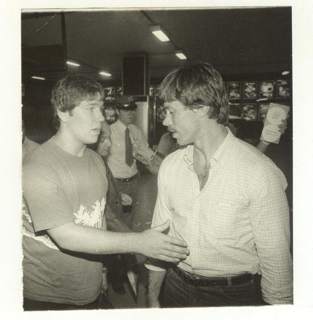 Walter Carmona (dir.) com Aurélio Miguel em 1983