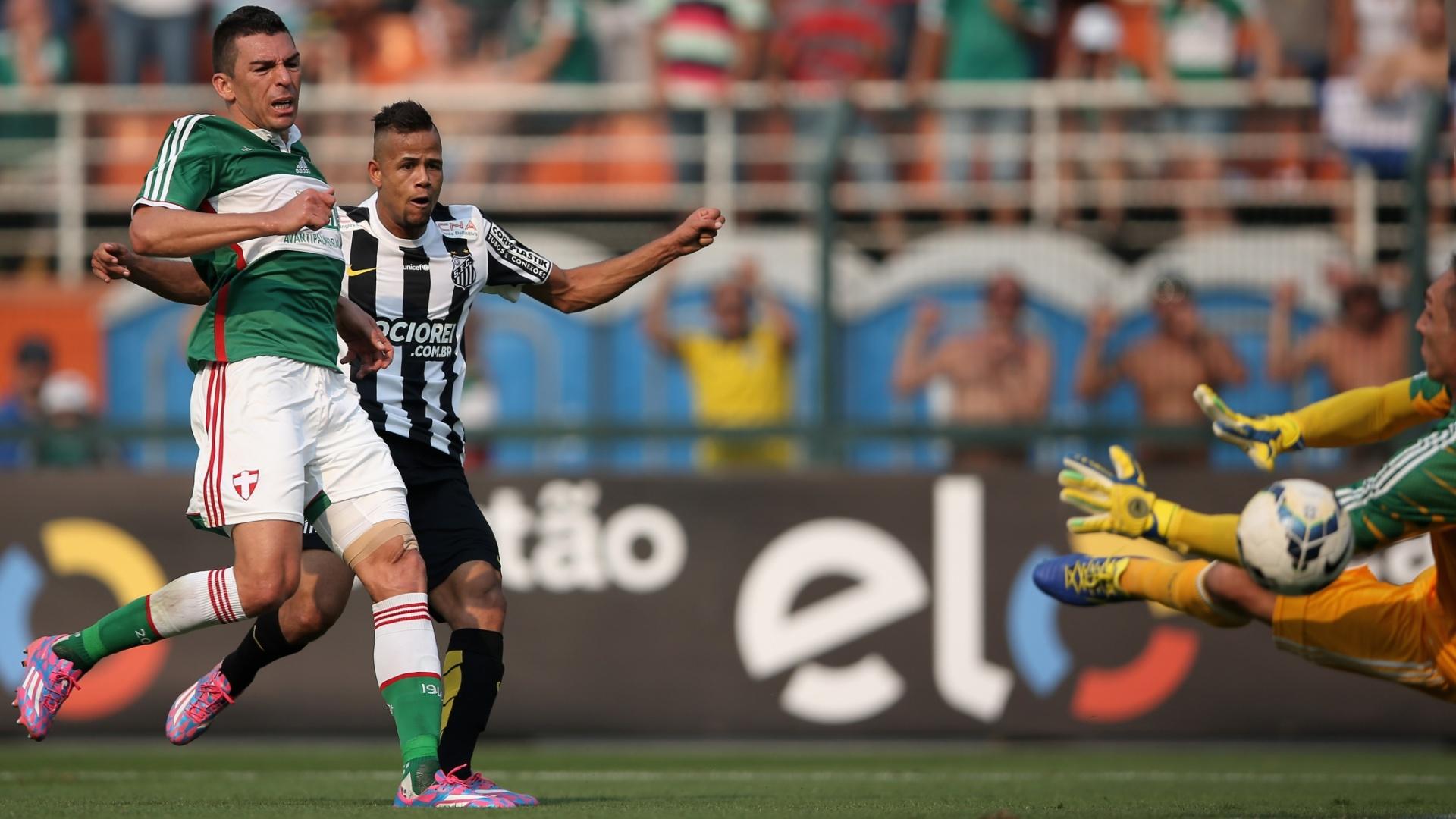 Geuvânio bate firme e faz para o Santos sobre o Palmeiras