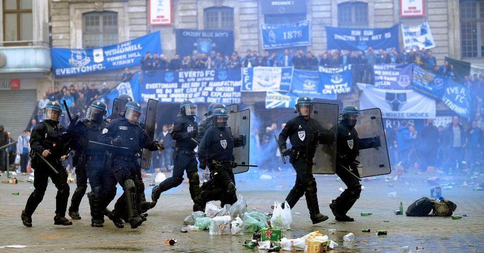 Antes de Lille x Everton, torcedores ingleses causaram confusão na França