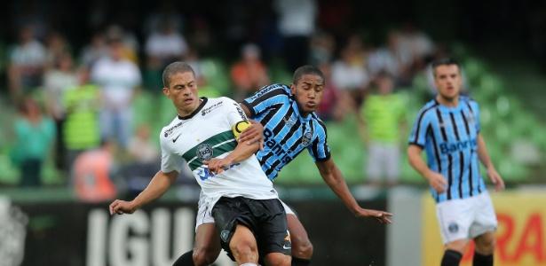 Riveros salvou Grêmio da derrota com um gol de cabeça, aos 40 min do segundo tempo