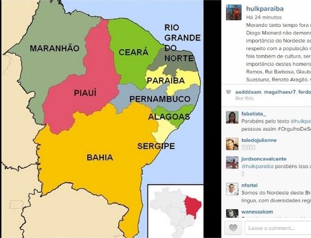 Hulk posta resposta a Diogo Mainardi no Instagram