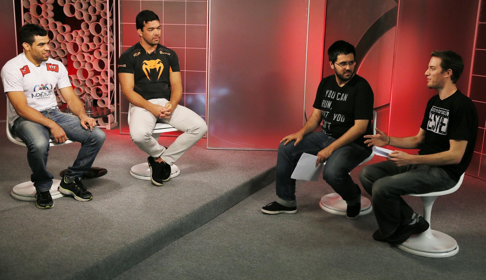 29. out. 2014 - Lyoto Machida e Renan Barão dão entrevista exclusiva ao UOL Esporte