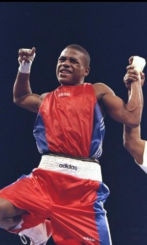 Floyd Mayweather, quando ainda era boxeador amador, em 1996