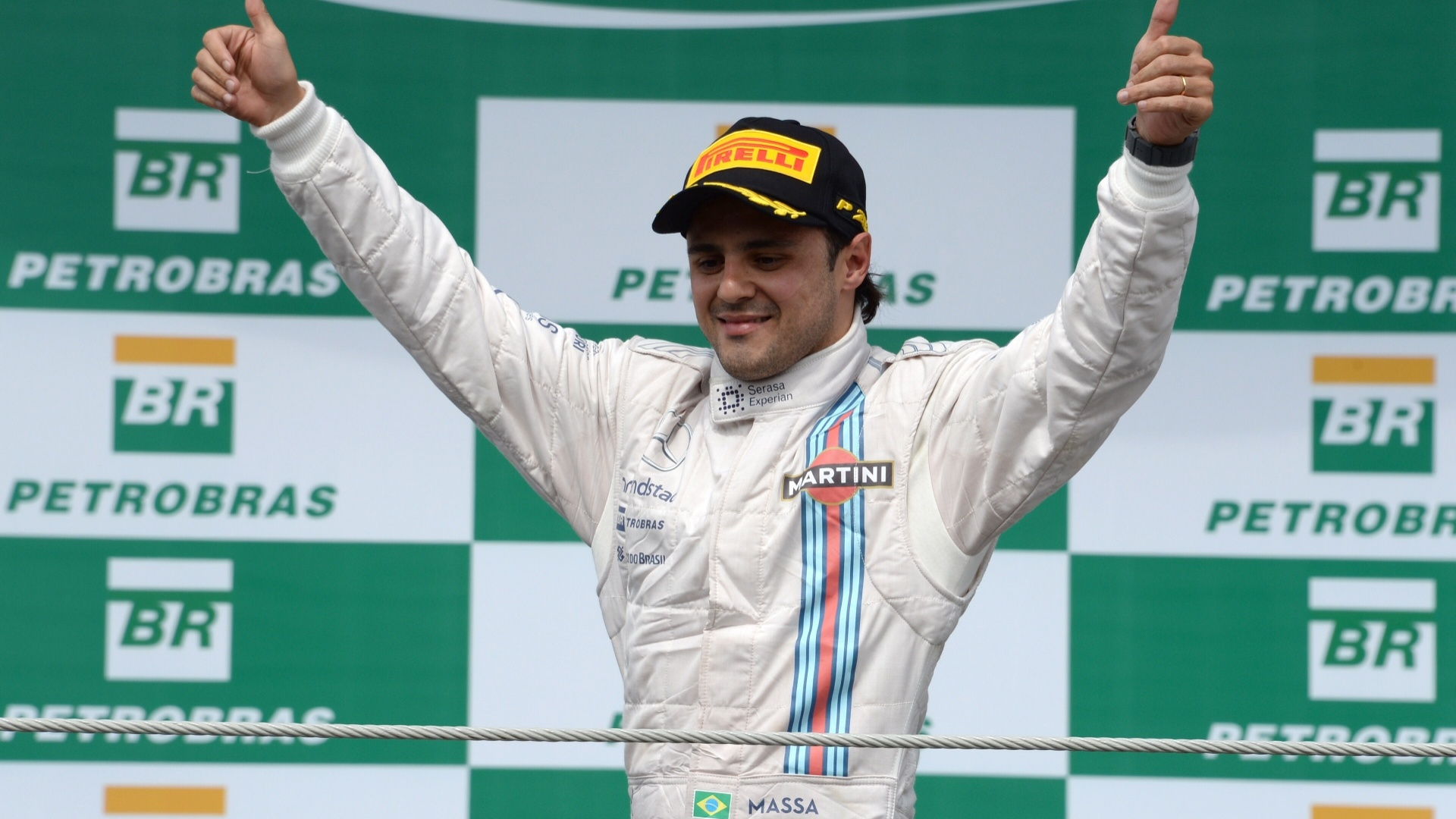 Massa foi ao pódio pela sexta vez em 11 corridas que já disputou em Interlagos