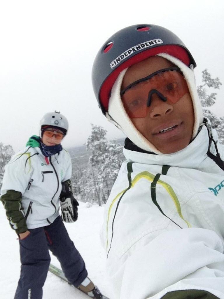 Josi Santos com Lais Souza quando treinavam juntas em Salt Lake City