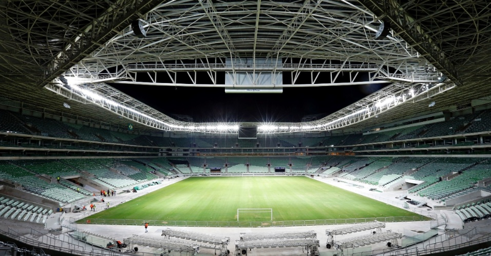 Iluminação artificial é um dos destaques da nova arena do Palmeiras
