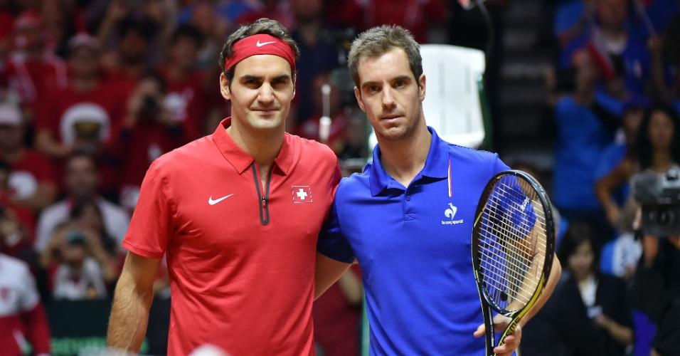 Federer enfrenta Richard Gasquet pelo título inédito da Copa Davis