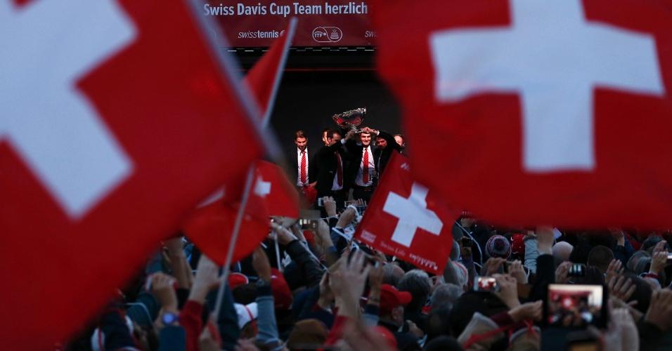 Evento aconteceu na Place de la Navigation, tradicional ponto de festejos de Lausanne