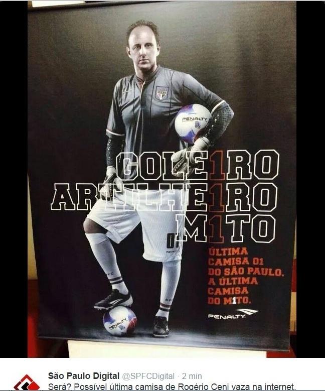 Suposta última camisa de Rogério Ceni vaza na internet