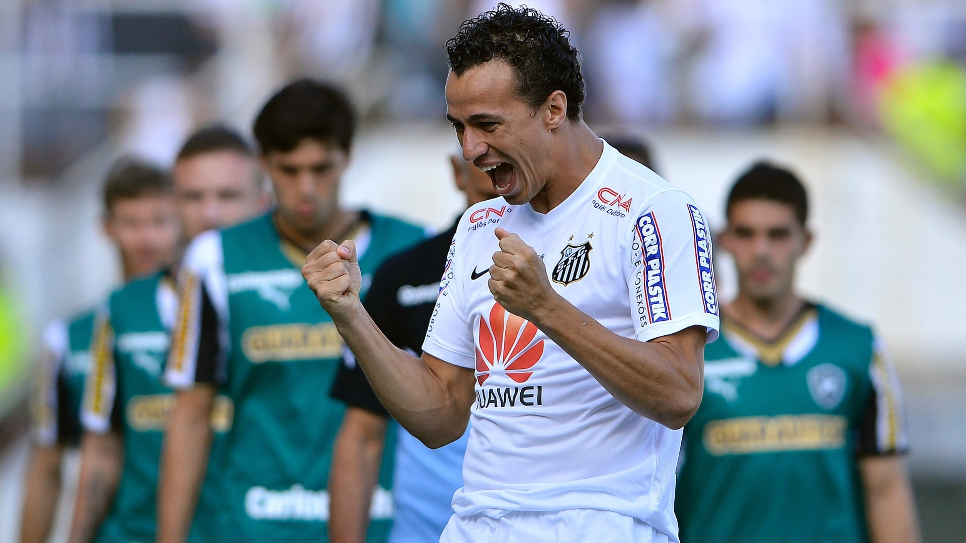 Leandro Damiao do Santos comemora seu gol durante partida contra o Botafogo pelo Campeonato Brasileiro