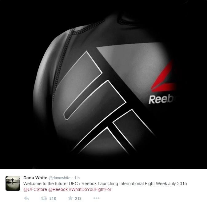 Reebok foi a marca escolhida para trabalhar em parceria com o UFC