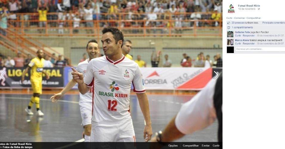Falcão em ação pelo Brasil Kirin
