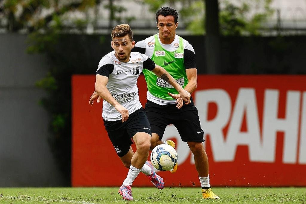 Lucas Lima e Damião não recebem direitos de imagem no Santos há 3 meses