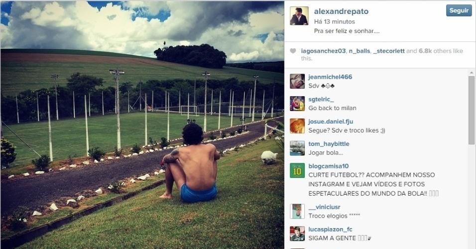 Alexandre Pato aproveitou o início das férias para visitar sua cidade natal: Pato Branco, no Paraná