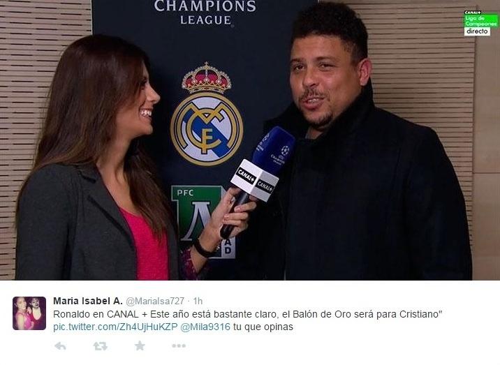 Ronaldo concede entrevista para o Canal+