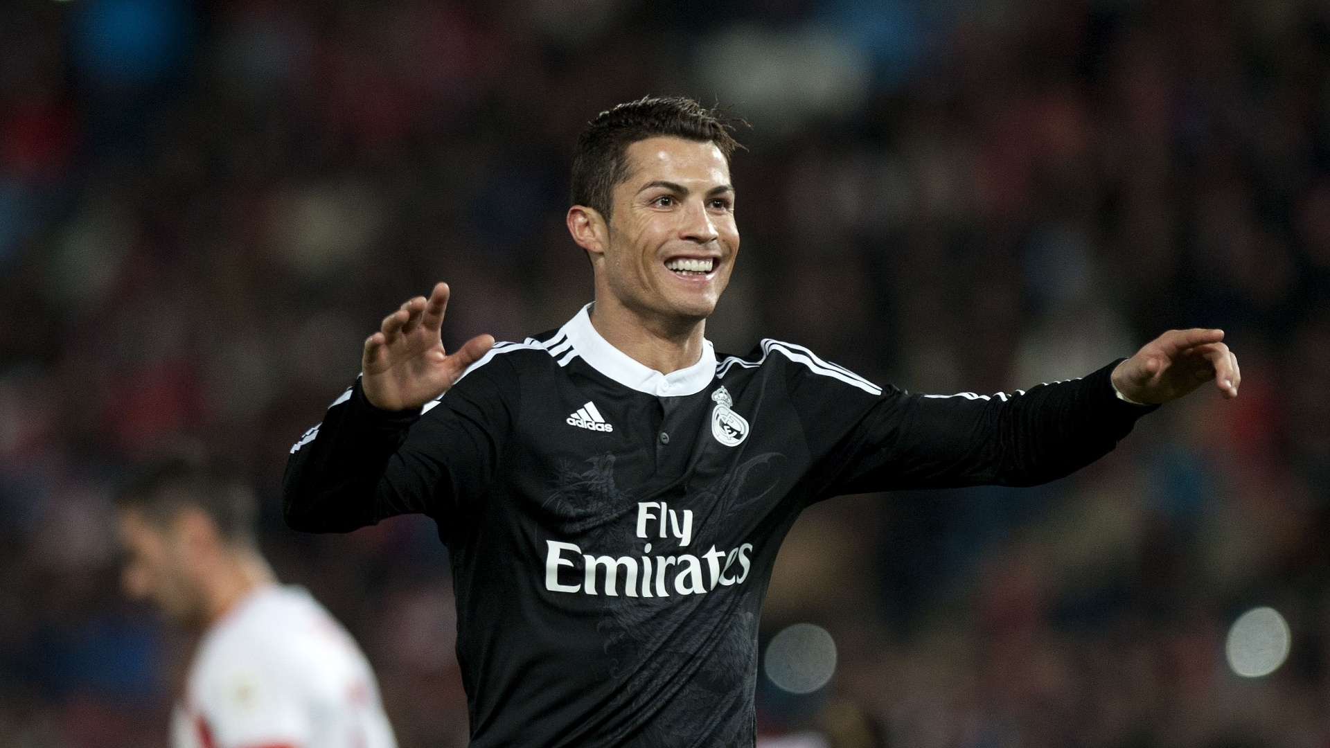 Real Madrid comemora gol marcado contra o Almería