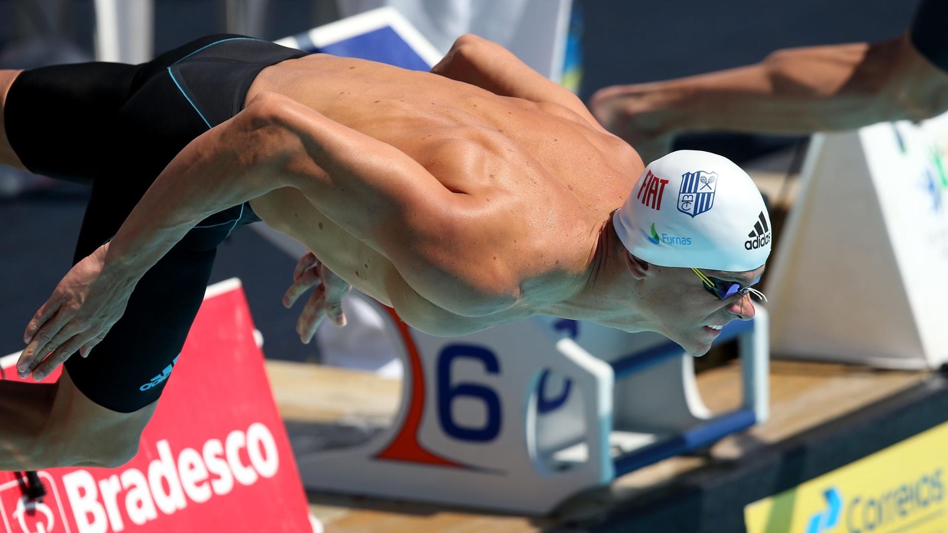 17 dez. 2014 - Cesar Cielo compete pelo Minas Tênis na prova dos 50m borboleta, no Torneio Open disputado no Rio de Janeiro