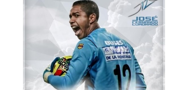 José Cuadrado, goleiro do Once Caldas; elenco todo do time colombiano ganha menos do que Pato