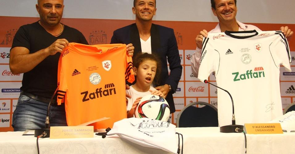 26 dez 2014 - Sampaoli, D'Ale e Dunga promovem jogo no Beira-Rio