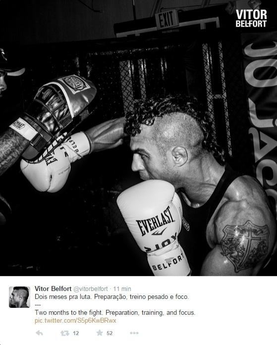 Vitor Belfort treina para a luta contra Chris Weidman