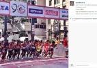 A São Silvestre na visão dos corredores - Reprodução Instagram