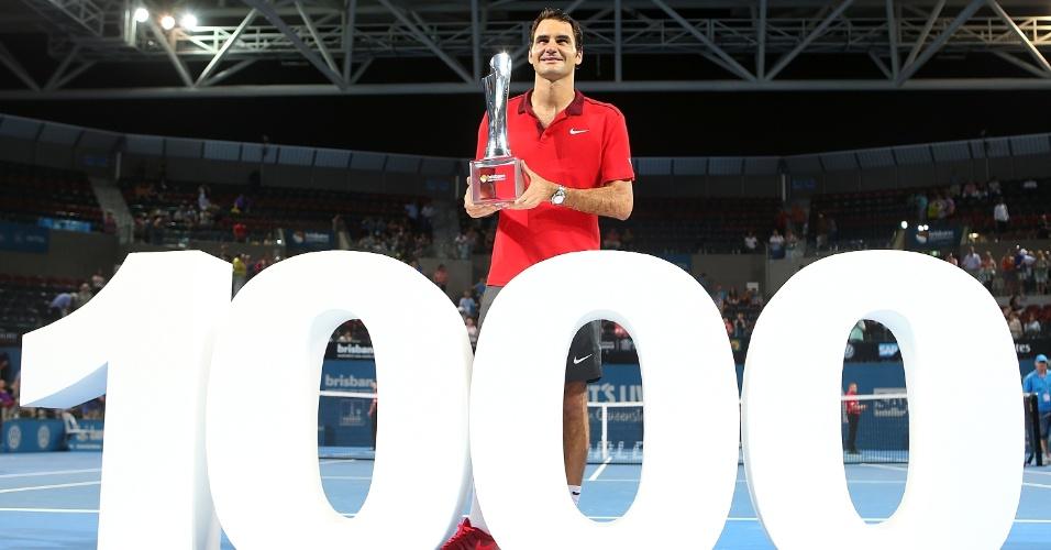 Federer alcançou as mil vitórias na carreira ao superar Milos Raonic
