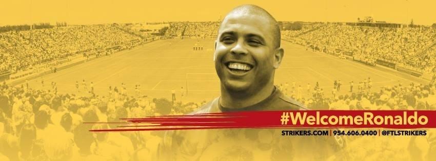 Cartaz dá as boas vindas a Ronaldo, aguardado na Flórida, Estados Unidos