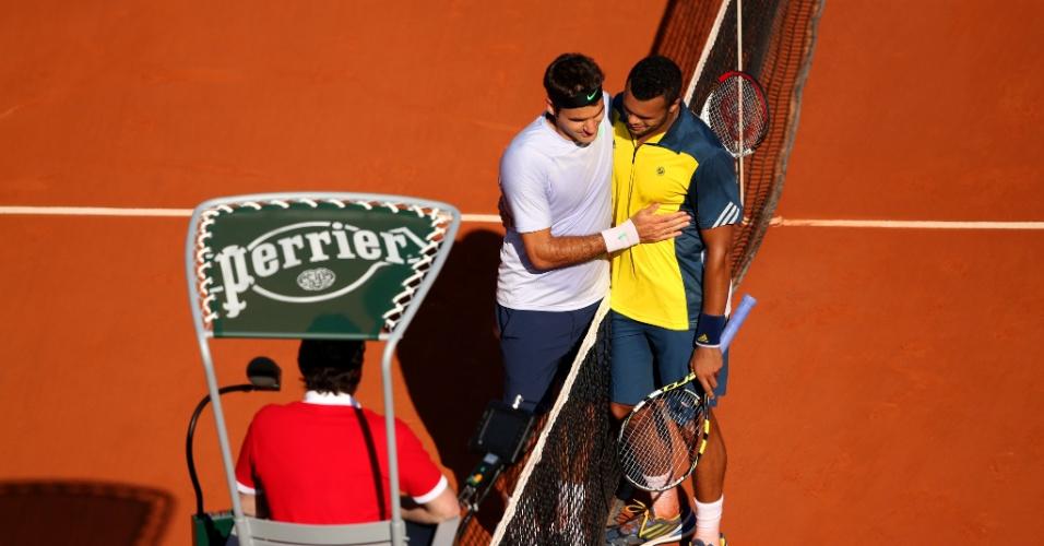 Em Roland Garros-2013, Federer teve como algoz o francês Jo-Wilfried Tsonga, que fez 3 sets a 0
