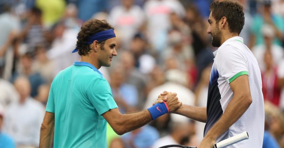 No último Aberto dos Estados Unidos, Federer foi eliminado na semifinal pelo croata Marin Cilic por 3 sets a 0