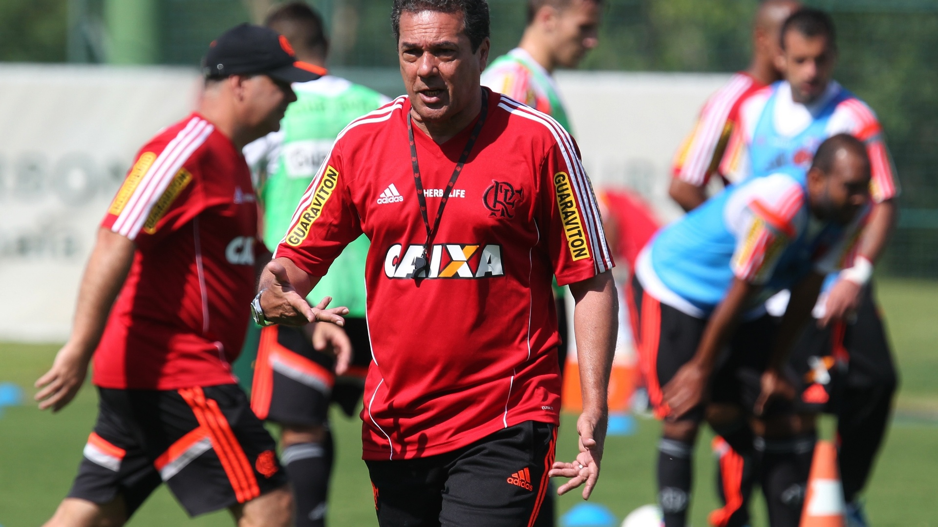 Vanderlei Luxemburgo comanda treino do Flamengo na pré-temporada em Atibaia (SP)
