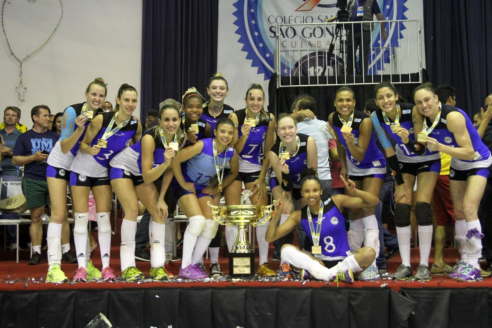 Pinheiros conquistou título da Copa Brasil ao derrotar o Sesi na final