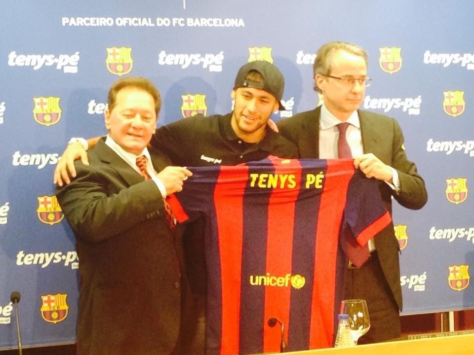 Neymar levou a empresa brasileira Tennys Pé a patrocinar o Barcelona