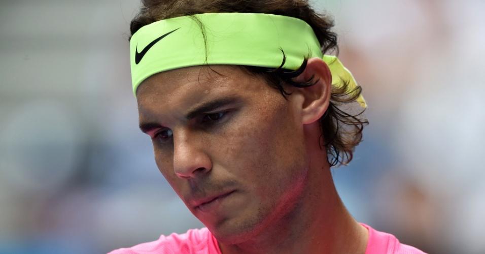 Rafael Nadal lamenta derrota para Tomas Berdych nas quartas do Aberto da Austrália