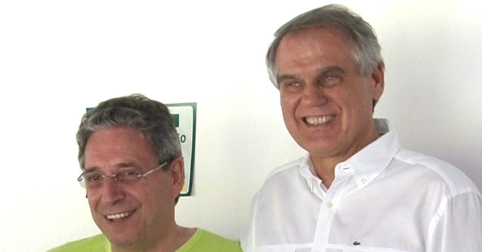 Rogério Portugal Bacellar (esq.) é o atual presidente do Coritiba