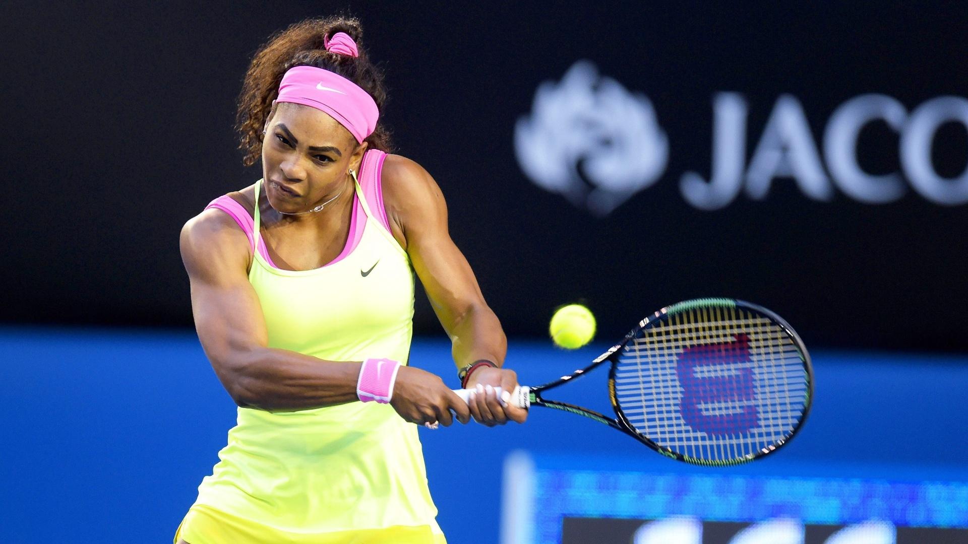 Serena chegou à final ostentando cinco títulos no Aberto da Austrália