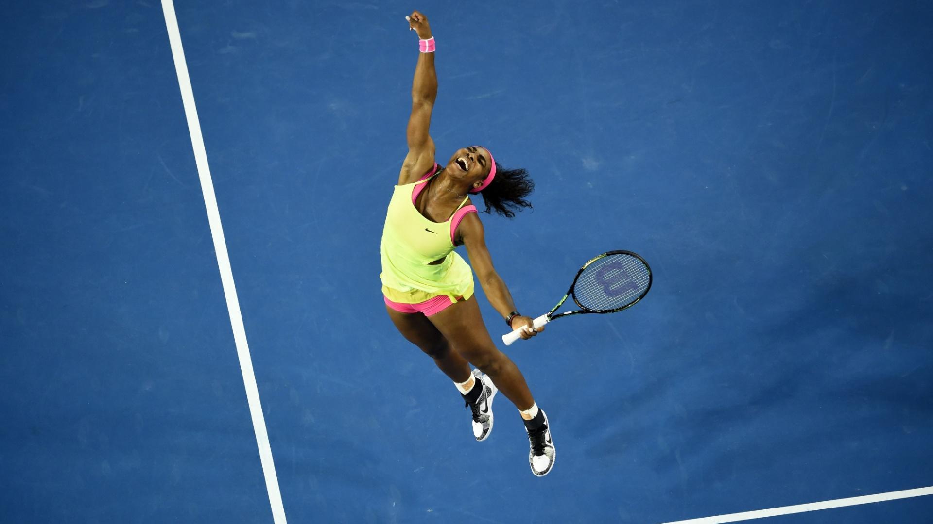 Serena Williams não consegue conter a alegria