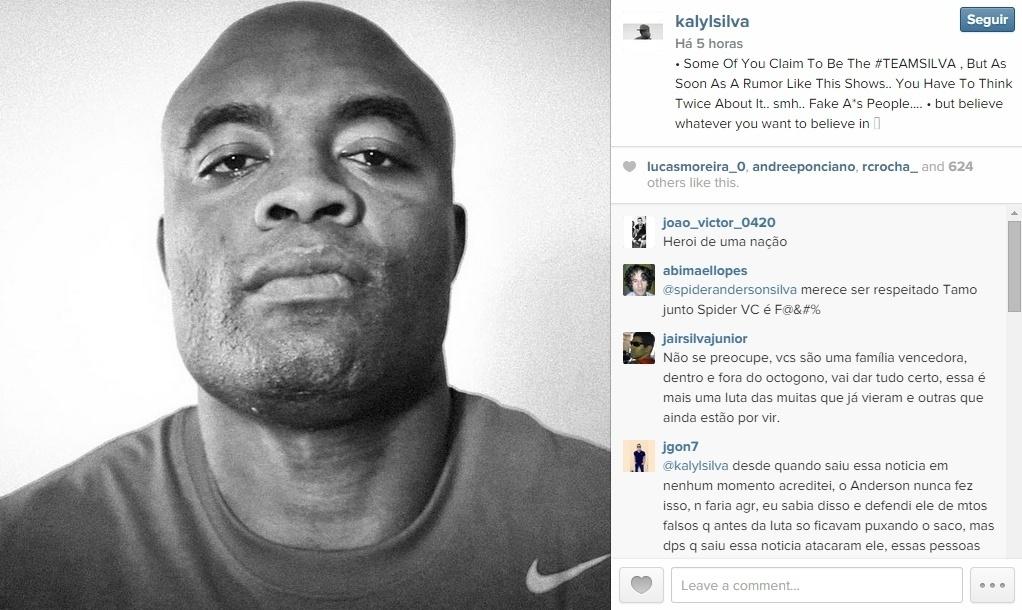 04.fev.2015 - Filho de Anderson chama doping de rumor e critica