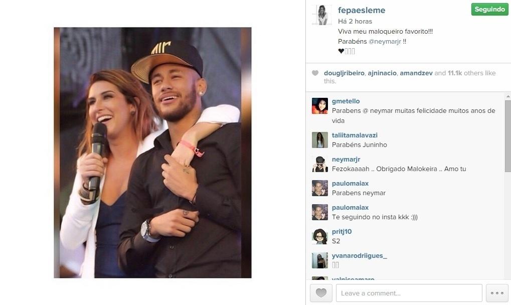 A atriz Fernanda Paes Leme não esqueceu do dia de Neymar