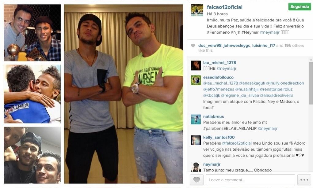 O jogador de futsal Falcão mandou uma mensagem para Neymar