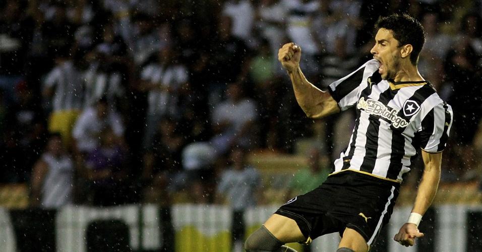 Rodrigo Pimpão comemora gol pelo Botafogo diante do Volta Redonda