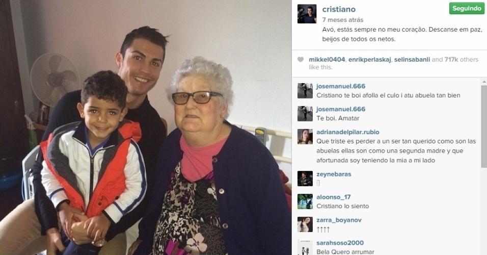 Cristiano Ronaldo e a avó