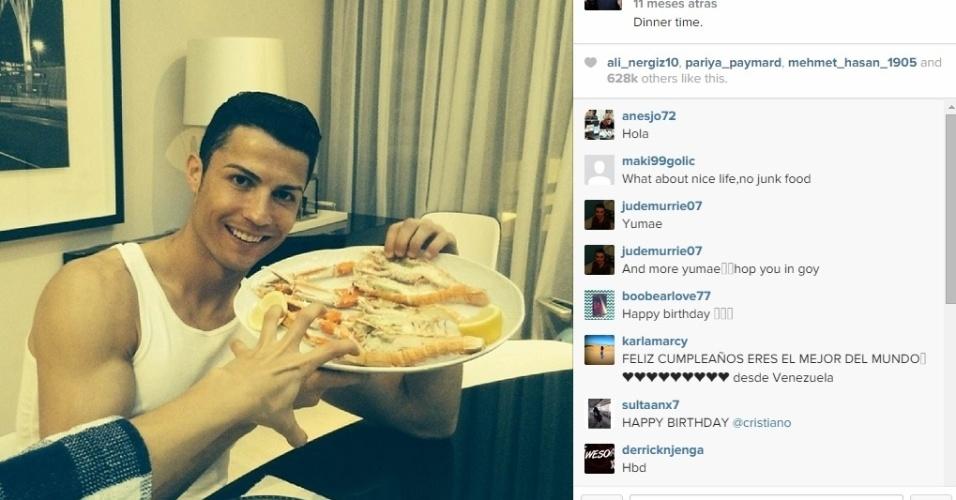 Cristiano Ronaldo é bom churrasqueiro e bom de garfo