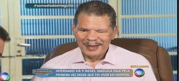 Maguila participa do programa Domingo Show
