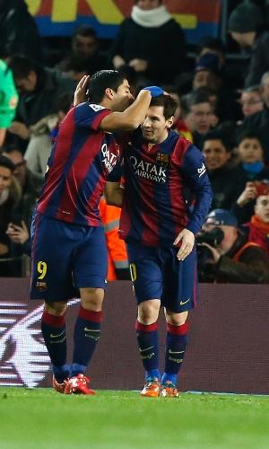 Messi abre o placar para o Barcelona contra o Villarreal pela Copa do Rei