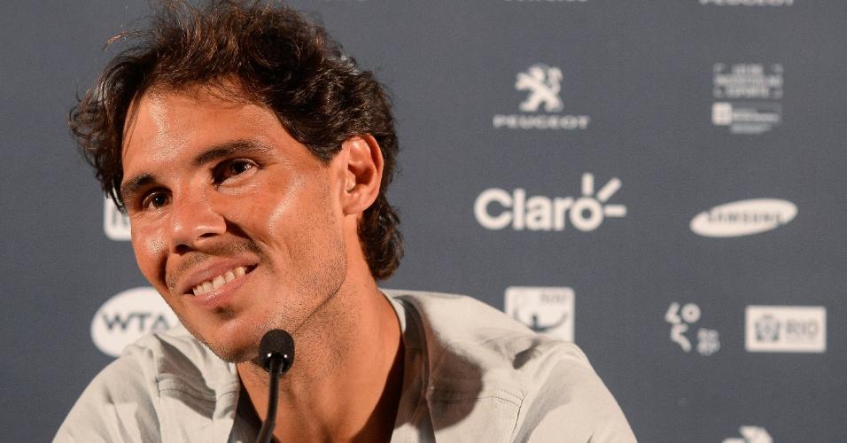Rafael Nadal concede entrevista em participação no Rio Open